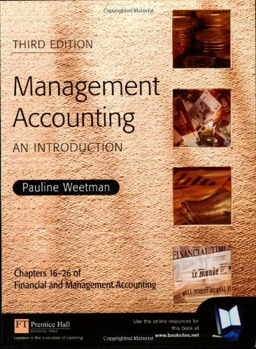 Management Accounting: An Introduction By Pauline Weetman