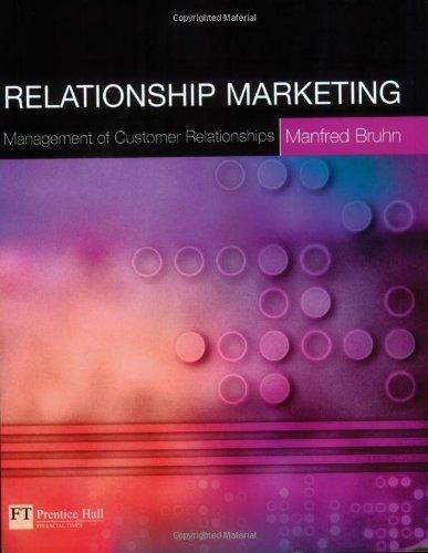 Relationship Marketing By Manfred Bruhn