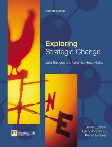 Exploring Strategic Change By Julia Balogun