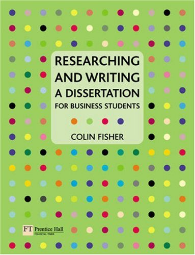 Researching and Writing a Dissertation By Colin Fisher