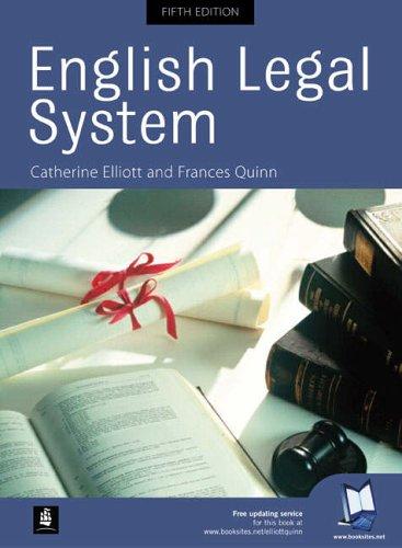 English Legal System By Frances Quinn