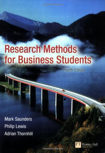 Research Methods for Business Students by Mark N. K. Saunders
