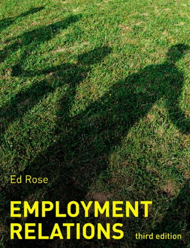 Employment Relations By Ed Rose