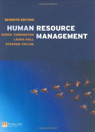 Human Resource Management By Derek Torrington