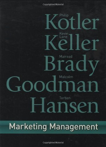 Marketing Management First European Edition By Philip Kotler