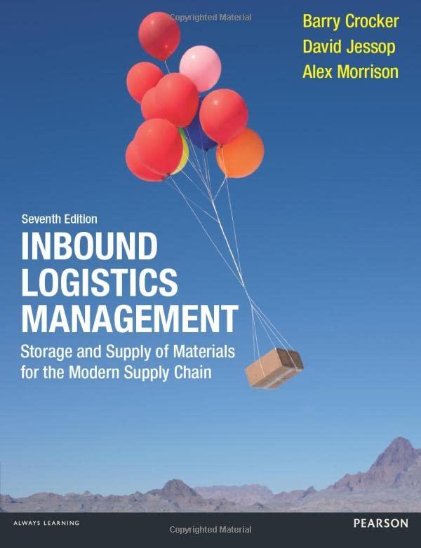 Inbound Logistics Management By Barry Crocker
