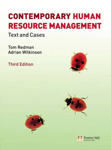 Contemporary Human Resource Management plus MyLab access code By Tom Redman