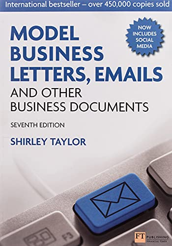 Model Business Letters, Emails and Other Business Documents By Shirley Taylor