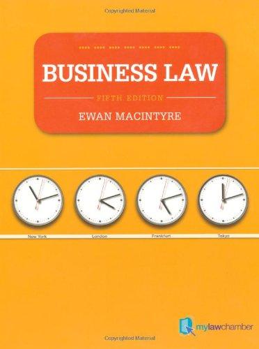 Business Law mylawchamber pack By Ewan MacIntyre