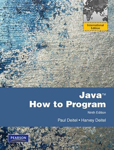 Java How to Program By Harvey Deitel