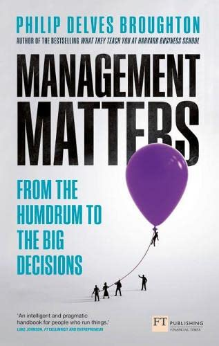 Management Matters By Philip Delves Broughton