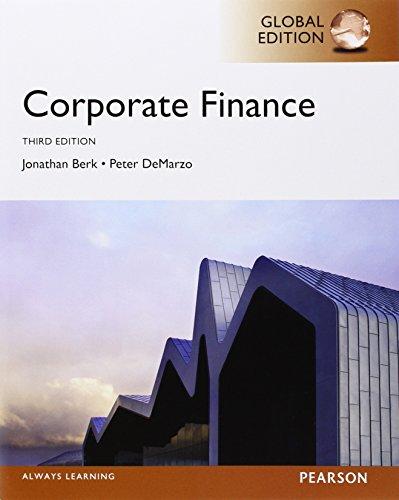 Corporate Finance, Global Edition by Jonathan Berk