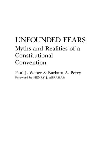 Unfounded Fears By Barbara Perry