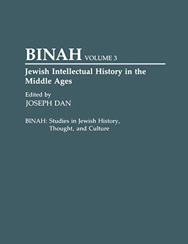 Jewish Intellectual History in the Middle Ages By Joseph Dan