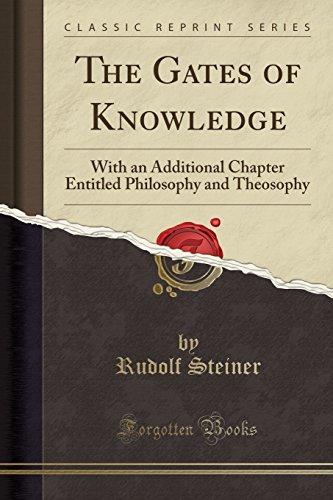 The Gates of Knowledge By Dr Rudolf Steiner