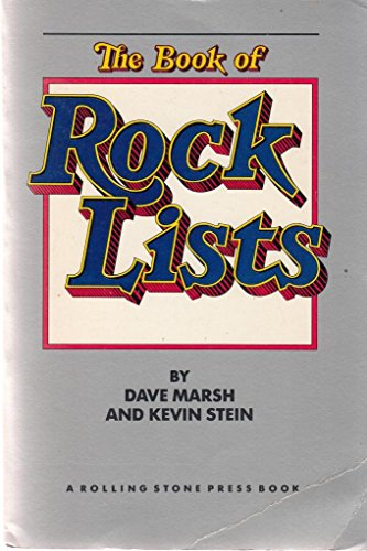 Book of Rock Lists By Dave Marsh