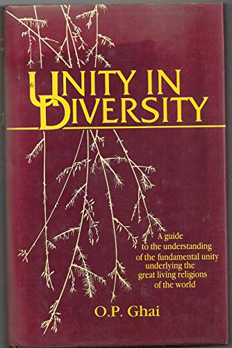 Unity in Diversity By O. P. Ghai