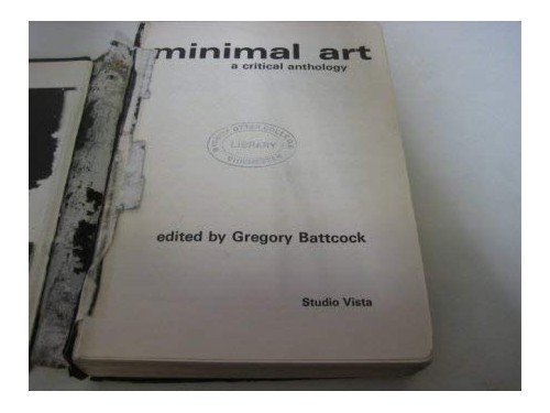 Minimal Art By Gregory Battcock