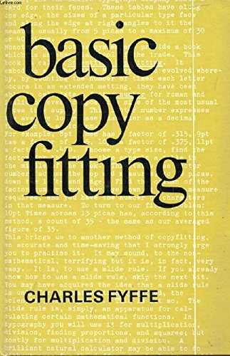 Basic Copy Fitting by Charles Fyffe