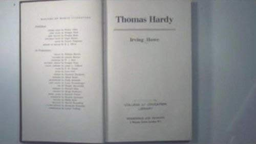 Thomas Hardy By Irving Howe