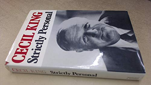 Strictly Personal By Cecil King