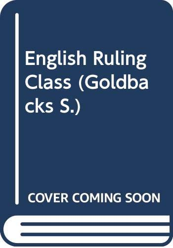 English Ruling Class By Edited by W.L. Guttsman