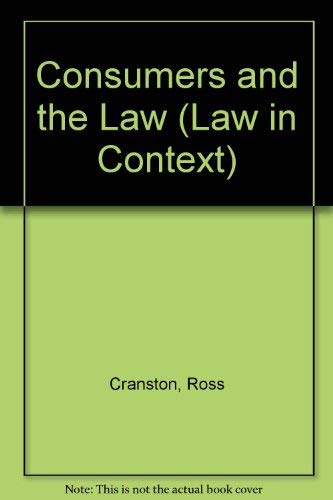 Consumers and the Law By Ross Cranston