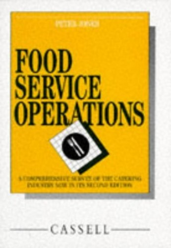 Food Service Operations By Peter Jones