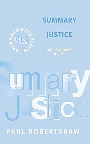 Summary Justice By Paul Robertshaw