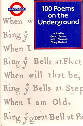 100 Poems on the Underground By Edited by Gerard Benson