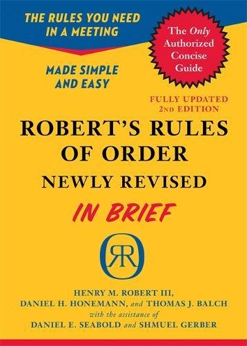 Robert's Rules of Order Newly Revised In Brief, 2nd edition (Roberts Rules of Order in Brief) By Henry M. Robert