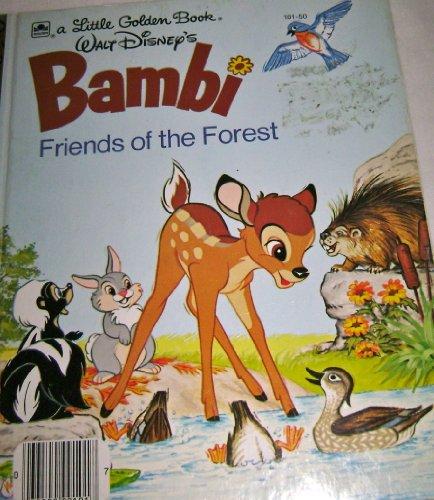 Walt Disney's Bambi: Friends of the Forest (A Little Golden Book) By Walt Disney