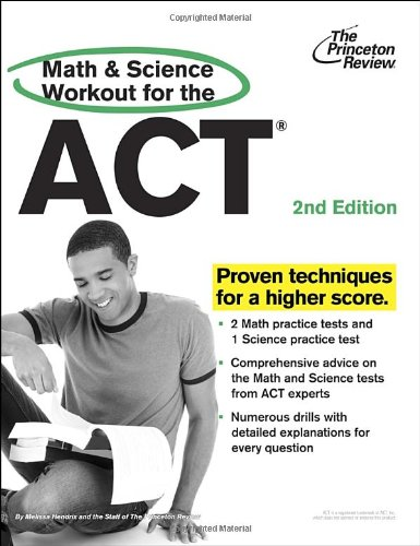 Math And Science Workout For The Act, 2Nd Edition By Penguin Random House