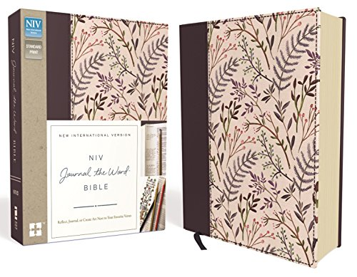 NIV, Journal the Word Bible, Cloth over Board, Pink Floral By Zondervan