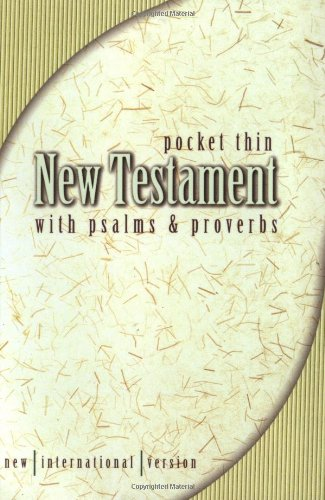 NIV Pocket Thin New Testament with Psalms and Proverbs By Zondervan Publishing