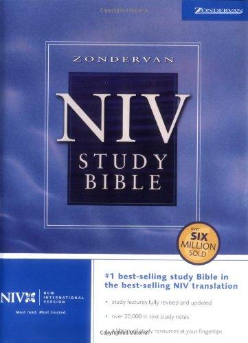 Zondervan NIV Study Bible By Zondervan Publishing