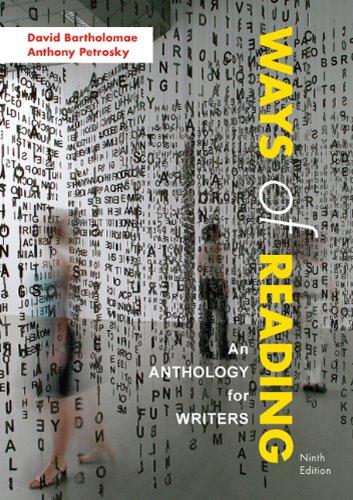Ways of Reading By University David Bartholomae (University of Pittsburgh)