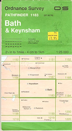 Pathfinder Maps: Bath and Keynsham Sheet 1183 (ST66/76) By Ordnance Survey