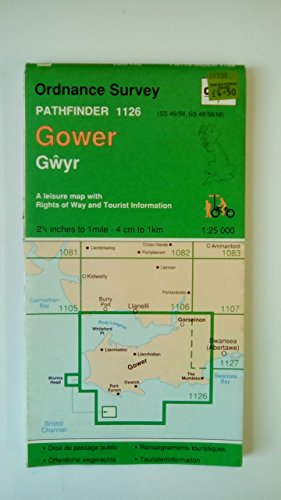 Pathfinder Map: Gower By Ordnance Survey