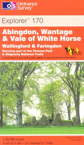 Abingdon, Wantage and Vale of White Horse (Explorer Maps) By Ordnance Survey