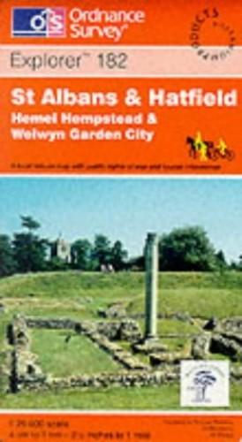 St. Albans and Hatfield, Hemel Hempstead... by Ordnance Survey Sheet map, folded