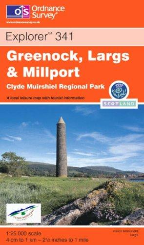 Greenock, Largs and Millport By Ordnance Survey