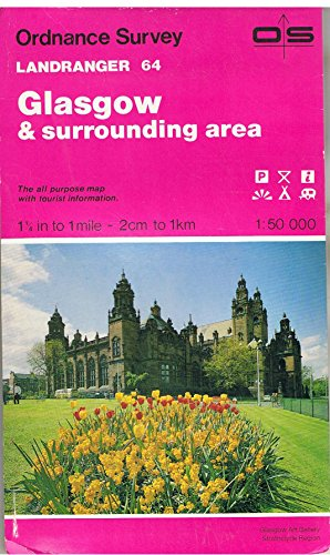 Landranger Map 64 Glasgow and Surrounding Area By Ordnance Survey