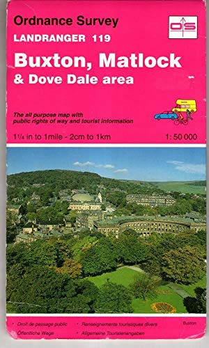 Buxton, Matlock and Dove Dale Area By Ordnance Survey