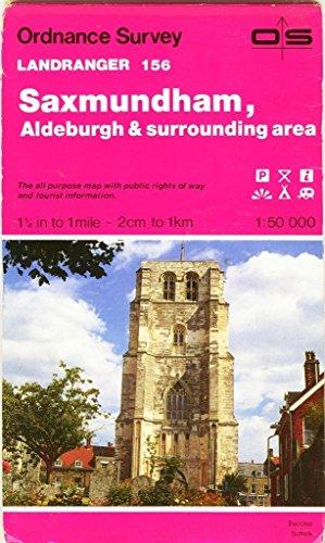 Landranger Maps: Saxmundham and Aldeburgh and Surrounding Area Sheet 156 (OS Landranger Map) By Ordnance Survey