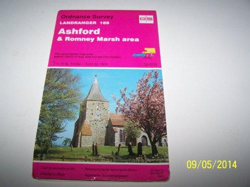 Landranger Maps: Ashford and Romney Marsh Area Sheet 189 (OS Landranger Map) By Ordnance Survey