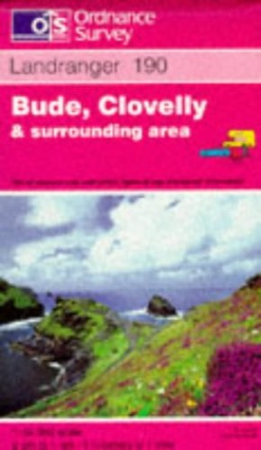 Landranger Map 190 Bude, Clovelly and Su... by Ordnance Survey Sheet map, folded