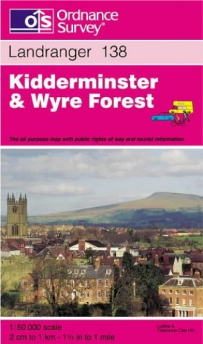 Kidderminster and Wyre Forest (Landranger Maps) By Ordnance Survey