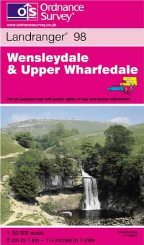 Wensleydale and Upper Wharfedale (Landranger Maps) By Ordnance Survey
