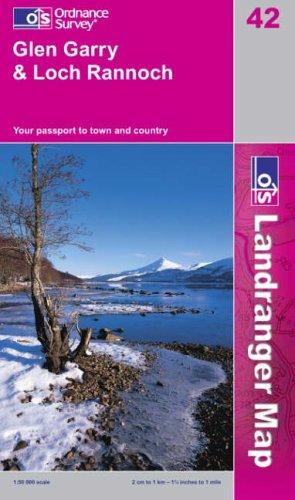 Glen Garry and Loch Rannoch By Ordnance Survey